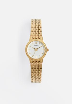 Sekonda Small Round Link Watch Gold
