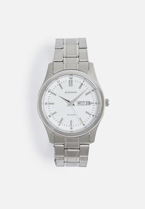 Sekonda Roman Big Link Watch Silver