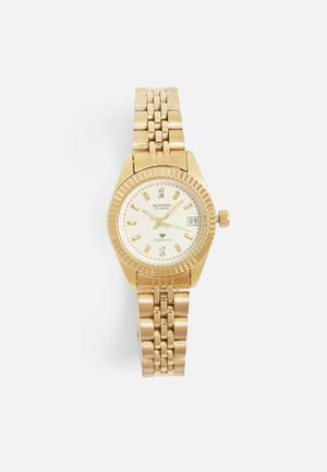 Sekonda Round Diamond Watch Gold