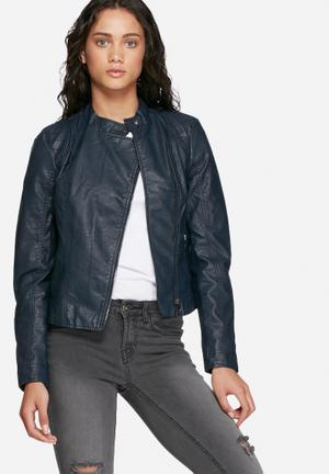 Vero Moda Miley PU Jacket Navy