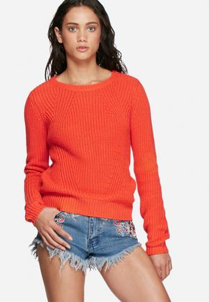 Vero Moda Lex Knit Knitwear Orange