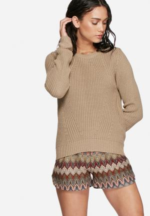 Vero Moda Lex Knit Knitwear Brown
