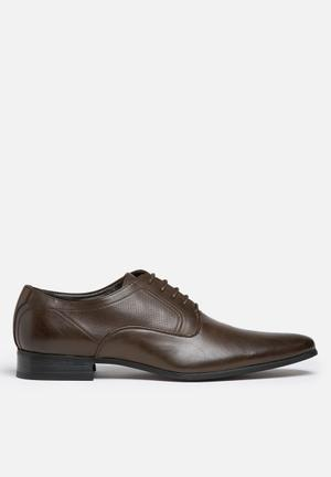 Gino Paoli Perforated Side Formal Brown