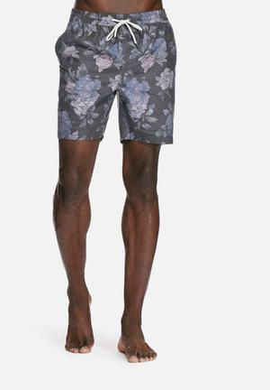 Globe Lynch Pool Shorts Swimwear Charcoal