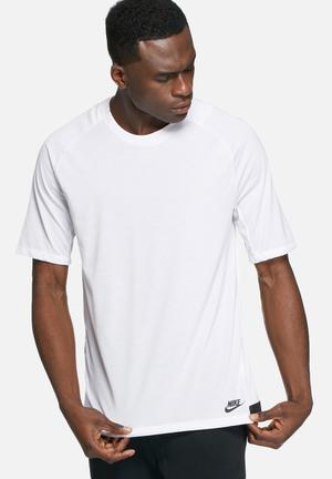 Nike Bonded Knit T-shirt White & Black