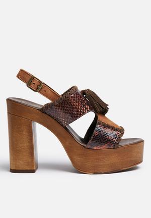 Vero Moda Finna Leather Heel Brown