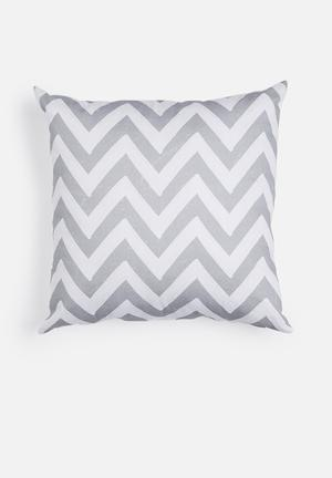 Sixth Floor Cloudy Chevron Printed Cushion Cotton Twill