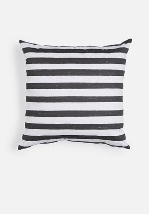 Sixth Floor Stripe Printed Cushion  Cotton Twill