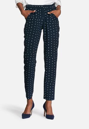 VILA Dotthea Pants Trousers Navy & White
