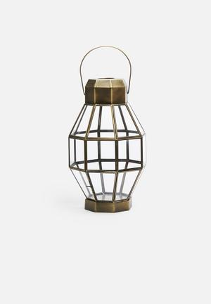 Sixth Floor Octagonal Lantern Accessories Iron With Glass