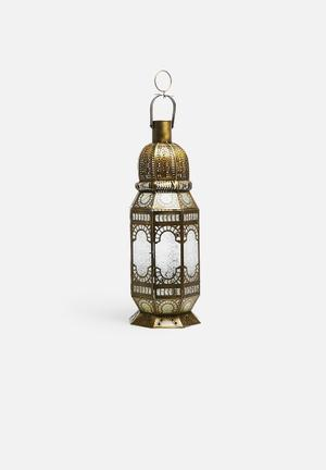 Sixth Floor Moroccan Lantern Accessories Iron With Glass