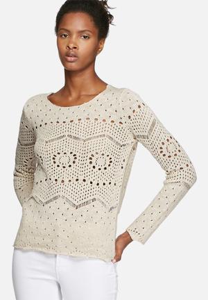 VILA Kalias Knit Knitwear Beige
