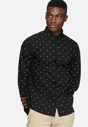 Only & Sons Bob Slim Shirt Black