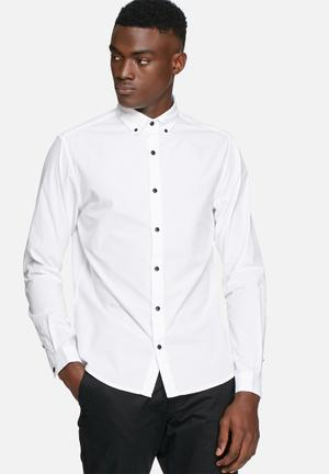 Only & Sons Sivel Slim Shirt White