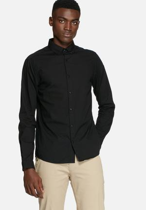 Only & Sons Sivel Slim Shirt Black