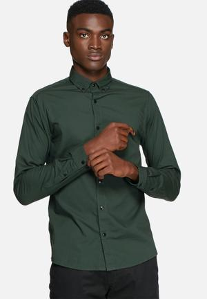 Only & Sons Sivel Slim Shirt Green