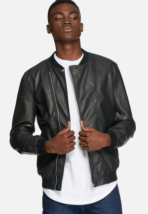 Only & Sons Kay Bomber Jackets Black