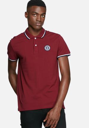 Jack & Jones Originals Georg Polo T-Shirts & Vests Red