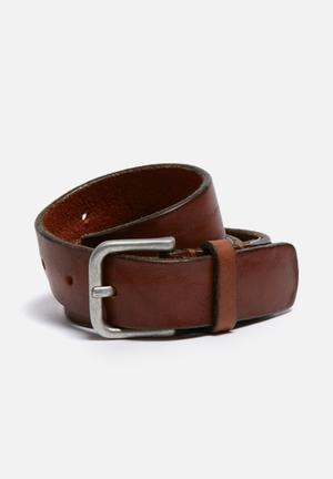 Selected Homme Basic Belt Brown