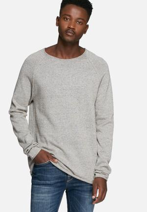 Selected Homme Clash Crewneck Noos Knitwear Grey