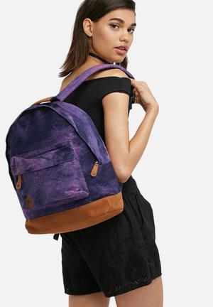 Mi-Pac Denim Dye Backpack Bags & Purses Purple