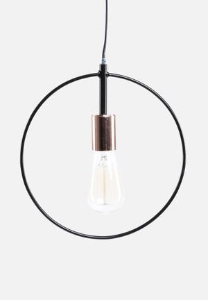 Sixth Floor Simple Circle Pendant Lighting Black