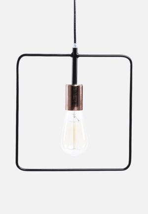 Sixth Floor Simple Square Pendant Lighting Black