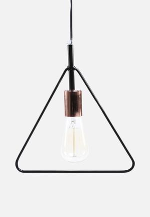 Sixth Floor Simple Triangle Pendant Lighting Black