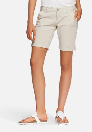 ONLY Paris Long Shorts Stone