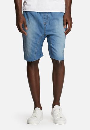Basicthread Deco Shorts Light Denim