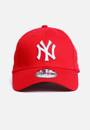 New Era 39THIRTY NY Yankees Headwear Scarlet Red