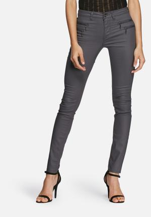 ONLY New Olivia Coated Pants Trousers Grey