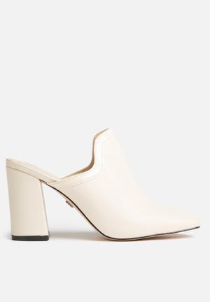 Daisy Street Lela Heeled Mules Cream