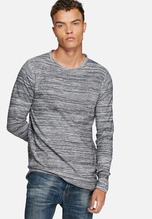 Only & Sons Satre Reverse Knit Knitwear Grey