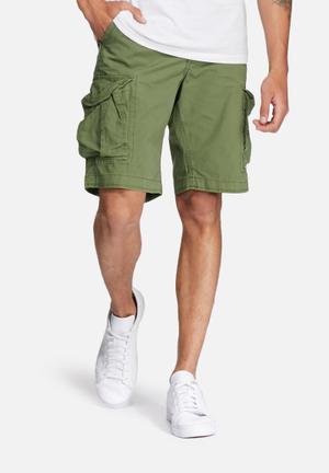 Jack & Jones Jeans Intelligence Preston Cargo Shorts Olive