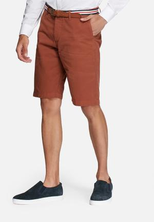 Jack & Jones Originals Lorenzo Belted Shorts Orange