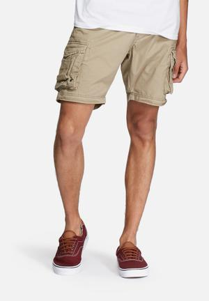 Selected Homme Jim Cargo Shorts Stone