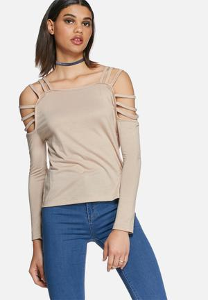 Daisy Street Chanel Cold Shoulder Strappy Top T-Shirts, Vests & Camis Nude