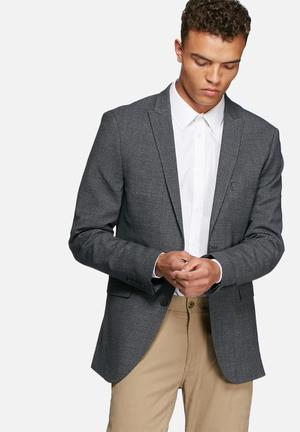 Selected Homme Zero Blazer Jackets & Coats Grey