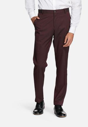 Selected Homme Logan Slim Trouser Pants Wine