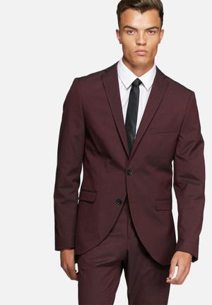 Selected Homme Logan Slim Blazer Jackets & Coats Wine