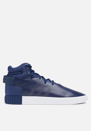 Adidas Originals Tubular Invader Leather Sneakers Dark Blue / Vintage White
