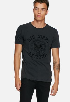 Jack & Jones Vintage Cliff Tee T-Shirts & Vests Black
