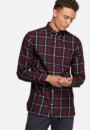 Jack & Jones Premium San Francisco Slim Shirt Red, Navy & White