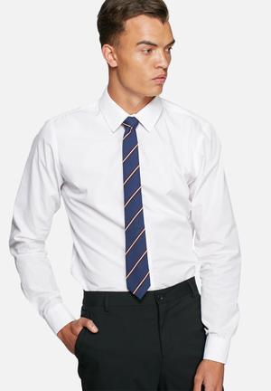 Jack & Jones Premium Milano Tie Ties & Bowties Navy & Burgundy