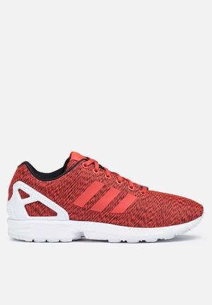 Adidas Originals ZX Flux Graphic Sneakers Core Black / Shock Red / Ftwr White