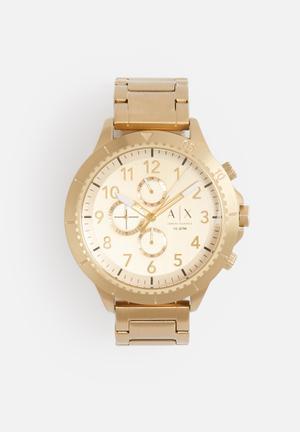 Armani Exchange Dress Watch Gold