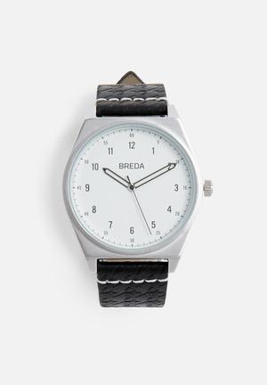 Breda Watches Shepherd Watches Silver With Black Strap