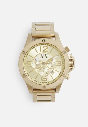 Armani Exchange Wellworn Watches Gold