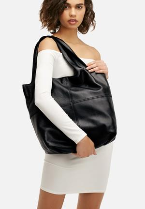 FSP Collection Maaia Leather Tote Bags & Purses Black
